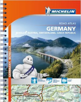 Germany, Benelux, Switzerland Michelin Road Atlas