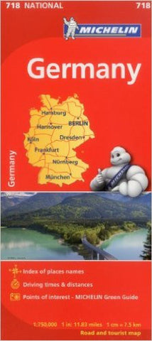 Germany Michelin Map 718