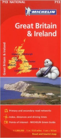 Great Britain & Ireland Michelin Map 713