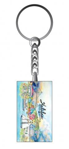 Halifax Glass Key Tag