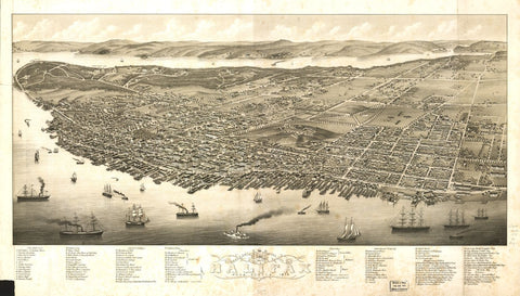 Panoramic View of the City of Halifax, Nova Scotia 1879