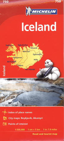 Iceland Michelin Map 750