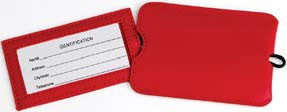 2 Pack Vinyl ID Tags - Varsity Red