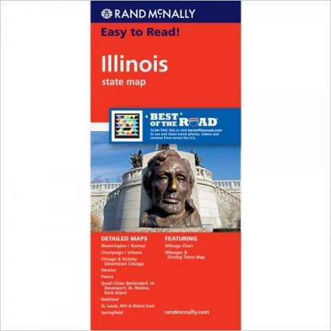 Illinois Rand McNally State Map
