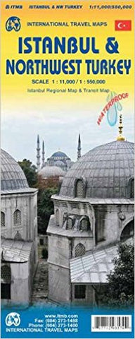 Istanbul & Northwest Turkey ITM Travel Map