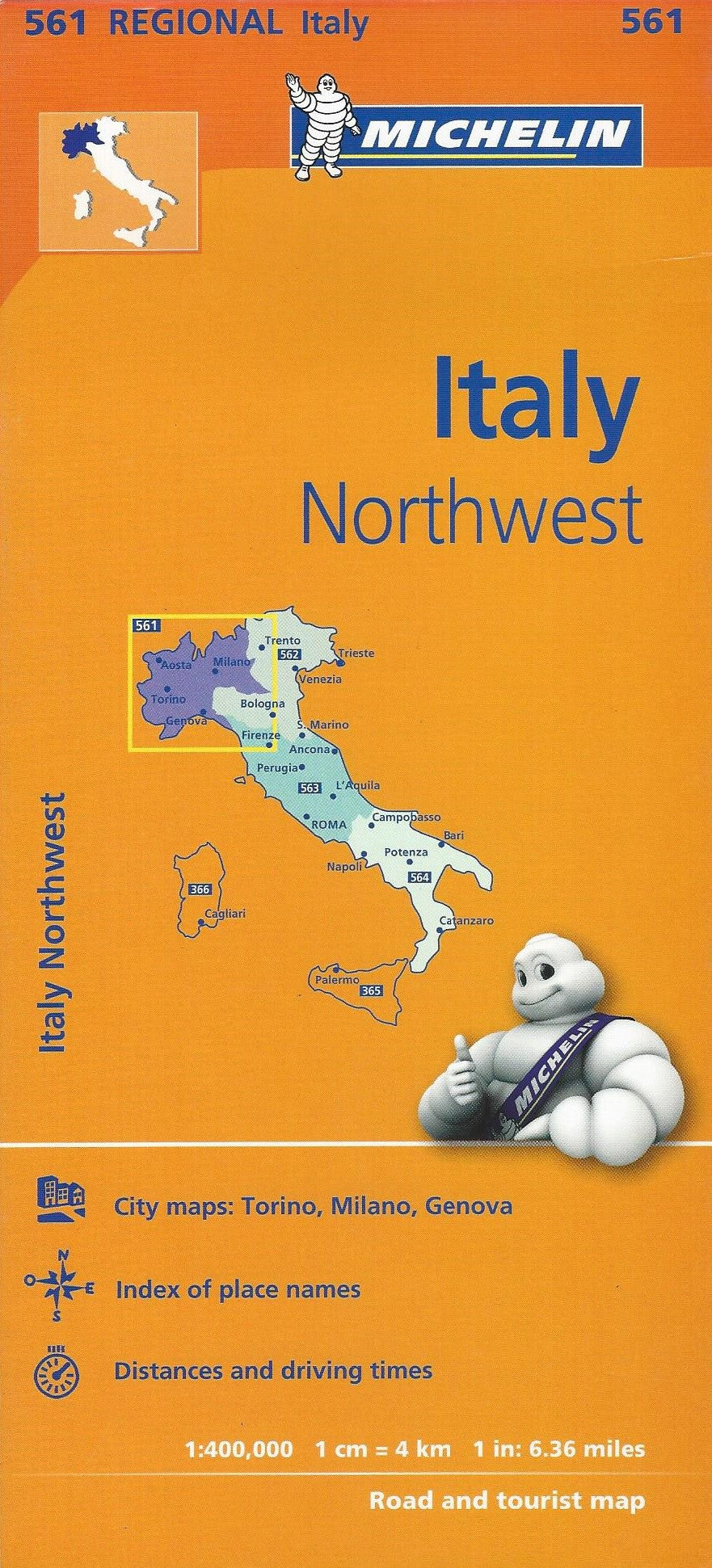 Italy Northwest Michelin Map 561