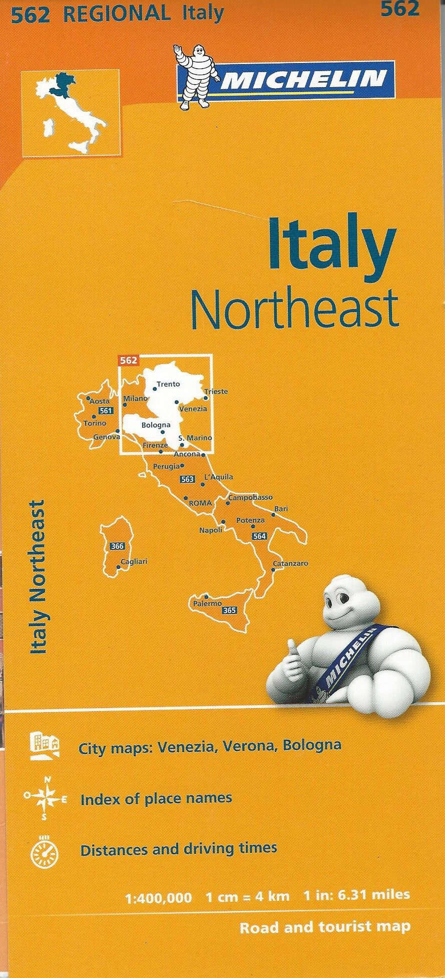 Italy Northeast Michelin Map 562