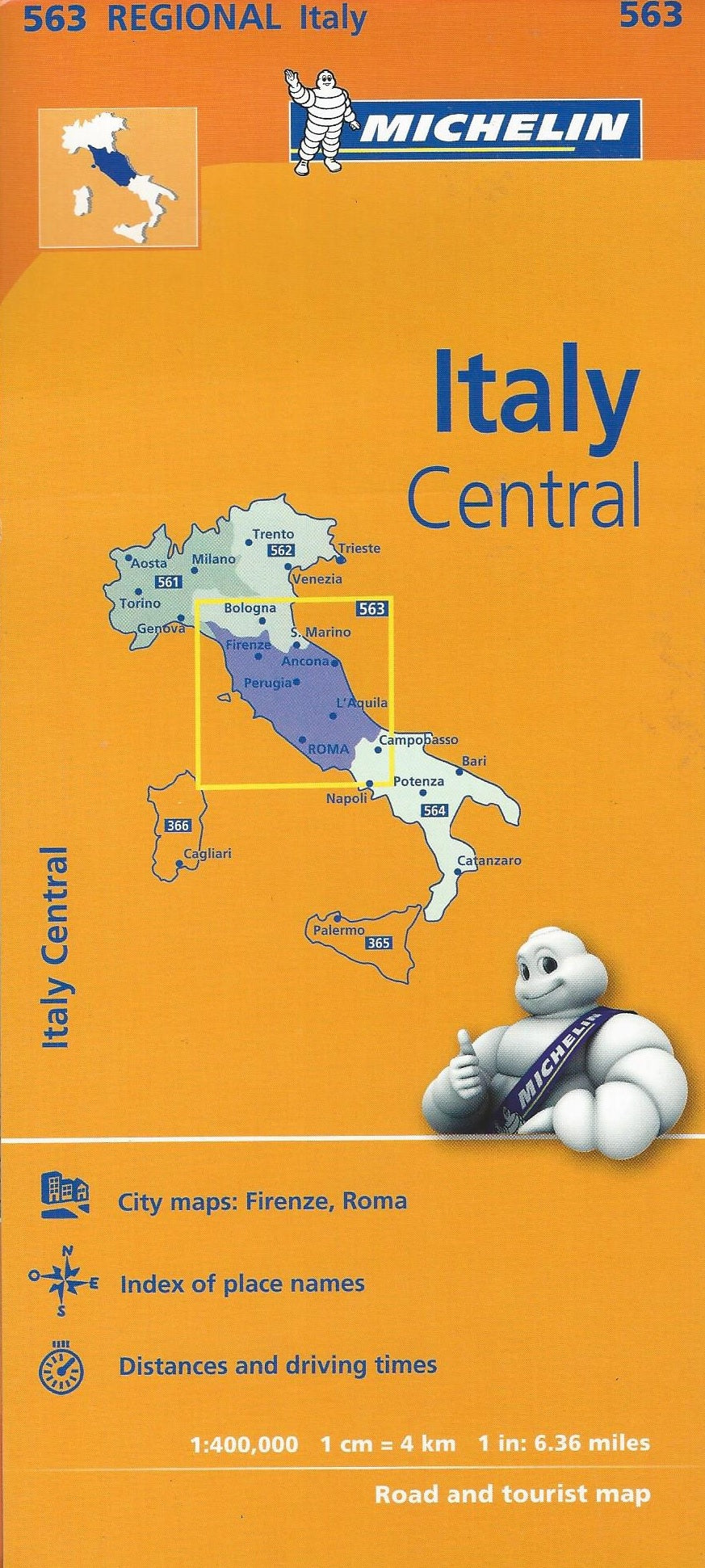 Italy Central Michelin Map 563