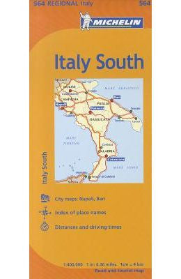 Italy South Michelin Map 564