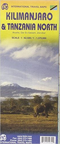 Kilimanjaro & Tanzania North ITM Travel Map