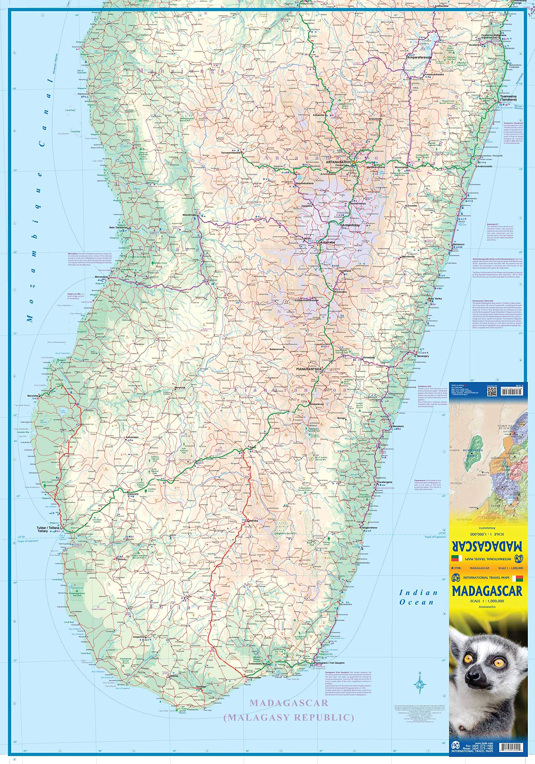 Madagascar  ITM Travel Map 6e