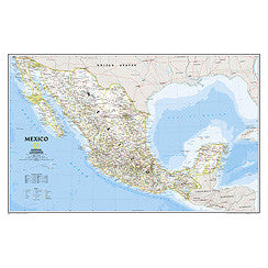 "Mexico Classic Wall Map 35"" x 22"""