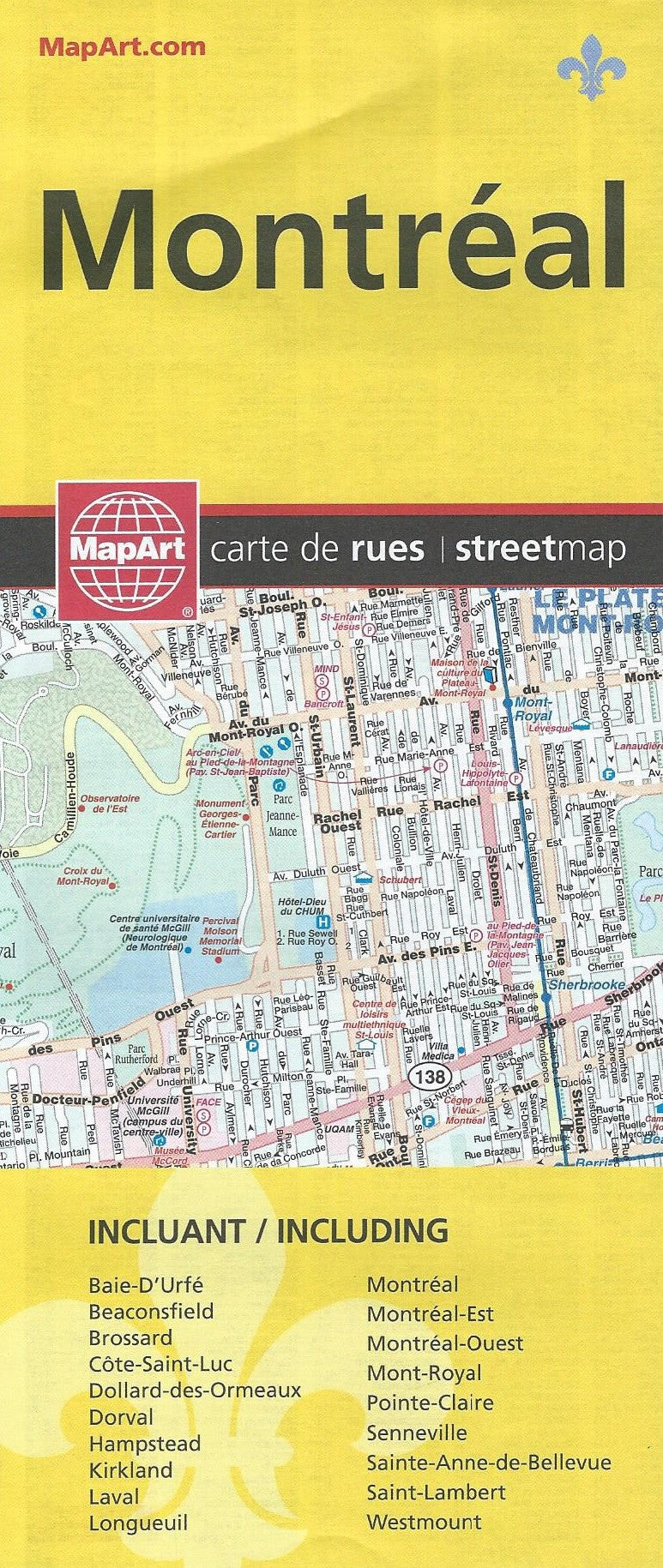 Montreal MapArt Street Map