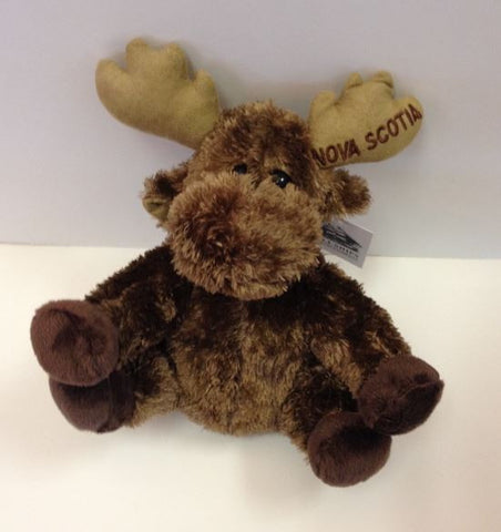 "Plush Sitting Moose 8"" - Nova Scotia"