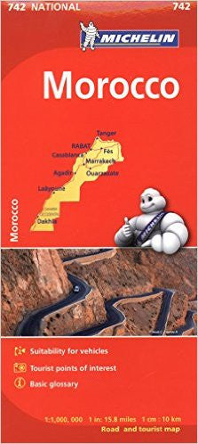 Morocco Michelin Map 742
