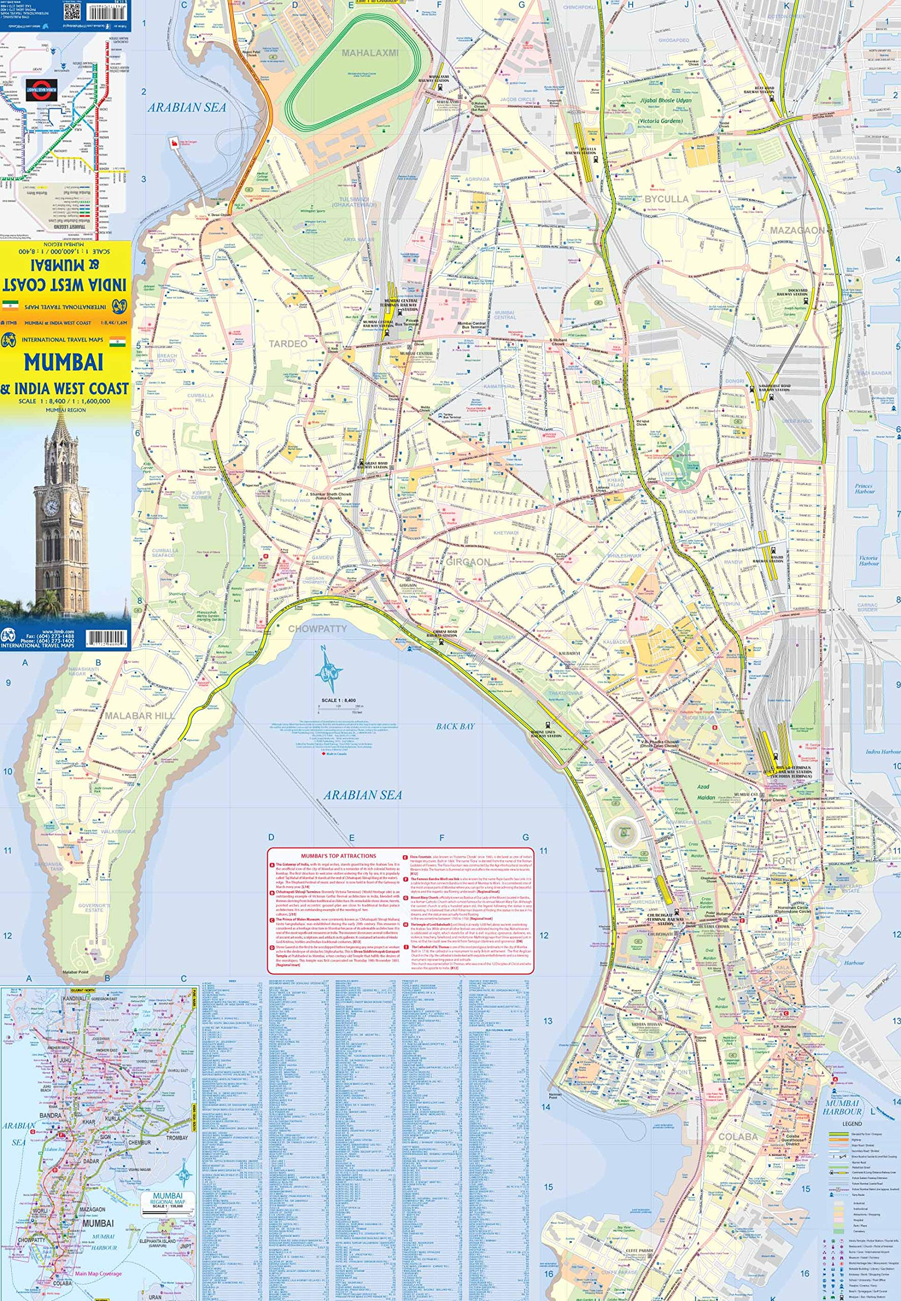 Mumbai &  India West Coast ITM Travel Map 2e