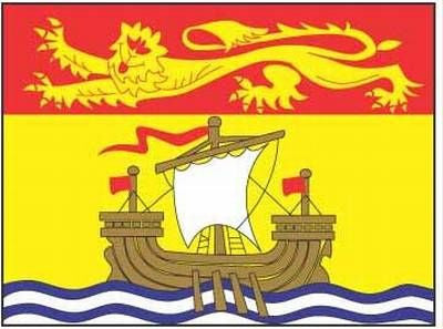 "New Brunswick Flag 4""x6"""