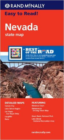 Nevada Rand McNally State Map