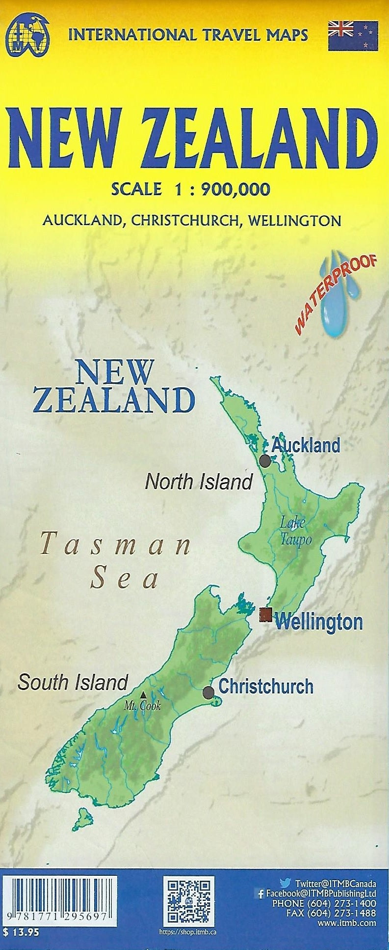 New Zealand ITM Travel Map 9e