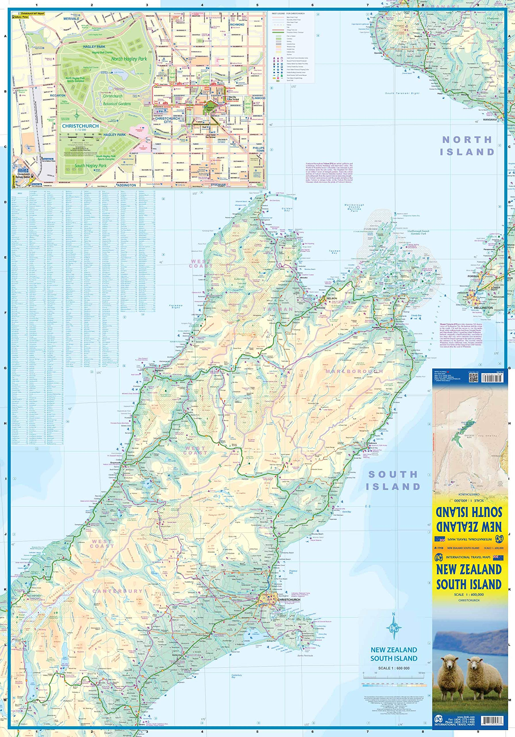 New Zealand South Island ITM Travel Map 1e