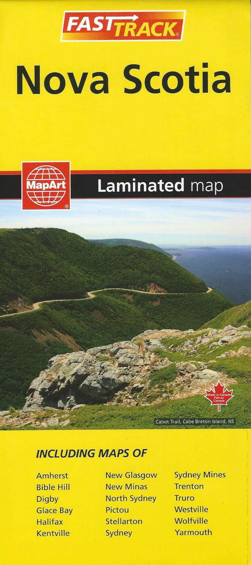 Nova Scotia Fast Track Laminated Map