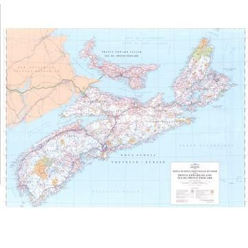 "Nova Scotia & PEI Wall Map 48"" x 36"""