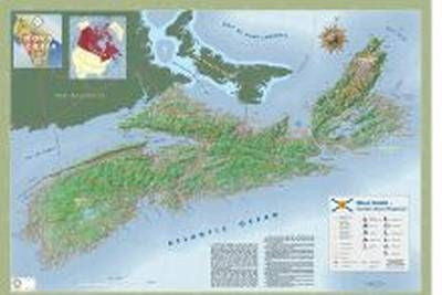 "Nova Scotia 3D Wall Map 39"" x 27"""