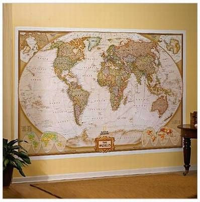 "National Geographic World Executive Mural Map 110""x76"""