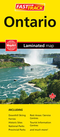Ontario Fast Track Laminated MapArt Map