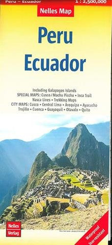 Peru / Ecuador Nelles Travel Map