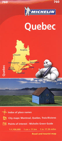 Quebec Province Michelin Map 760