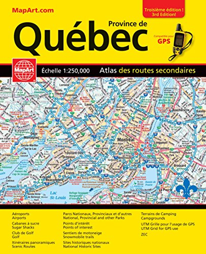 Quebec Province MapArt Road Atlas