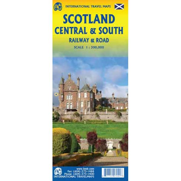 Scotland Central & South Road and Rail Map 1e
