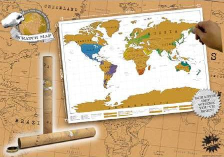 "Scratch Off World Map 32"" x 23"""