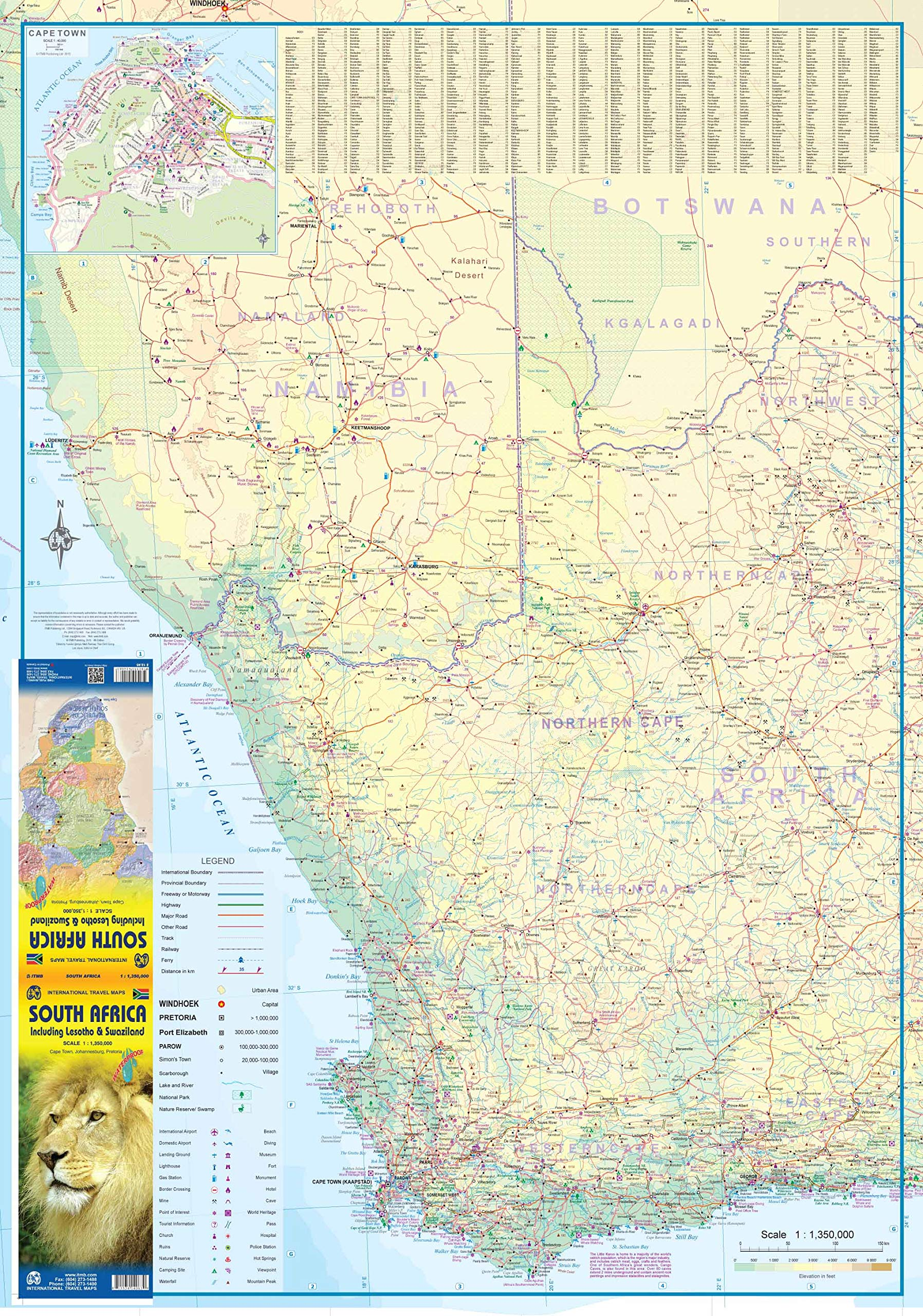 South Africa ITM Travel Map 5e