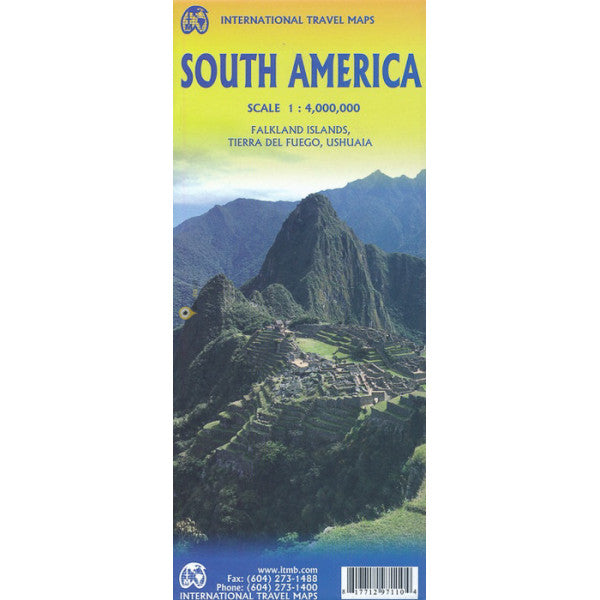 South America ITM Travel Map 7e