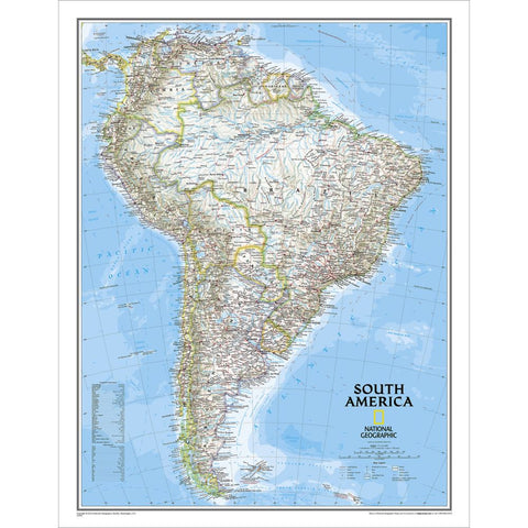 "South America Classic Wall Map 24"" x 30"""