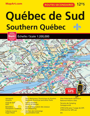 Southern Quebec MapArt Road Atlas