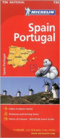Spain & Portugal Michelin Map 734