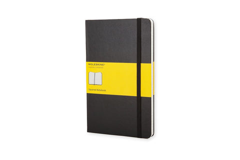 Moleskine Squared Notebook Large Black 5x8