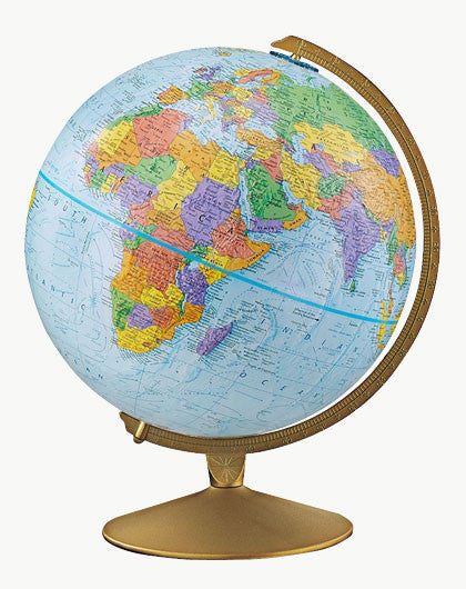 "The Explorer 12"" Blue Political Globe"