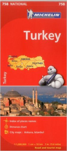Turkey Michelin Map 758