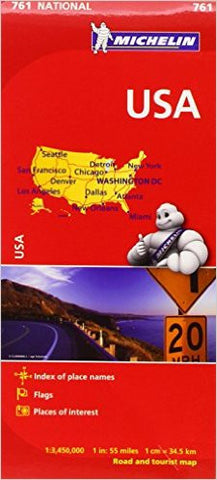 USA Michelin Map 761