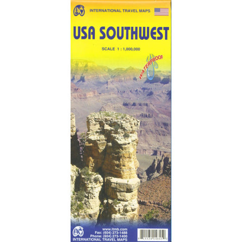 USA Southwest ITM Travel Map 3e
