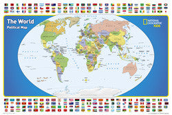 "The World for Kids Wall Map 36""x 24"""