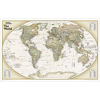 "World Explorer Executive Wall Map Laminated 32"" X 20"""
