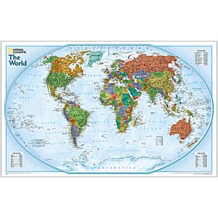 "World Explorer Political Wall Map 32"" X 20"""