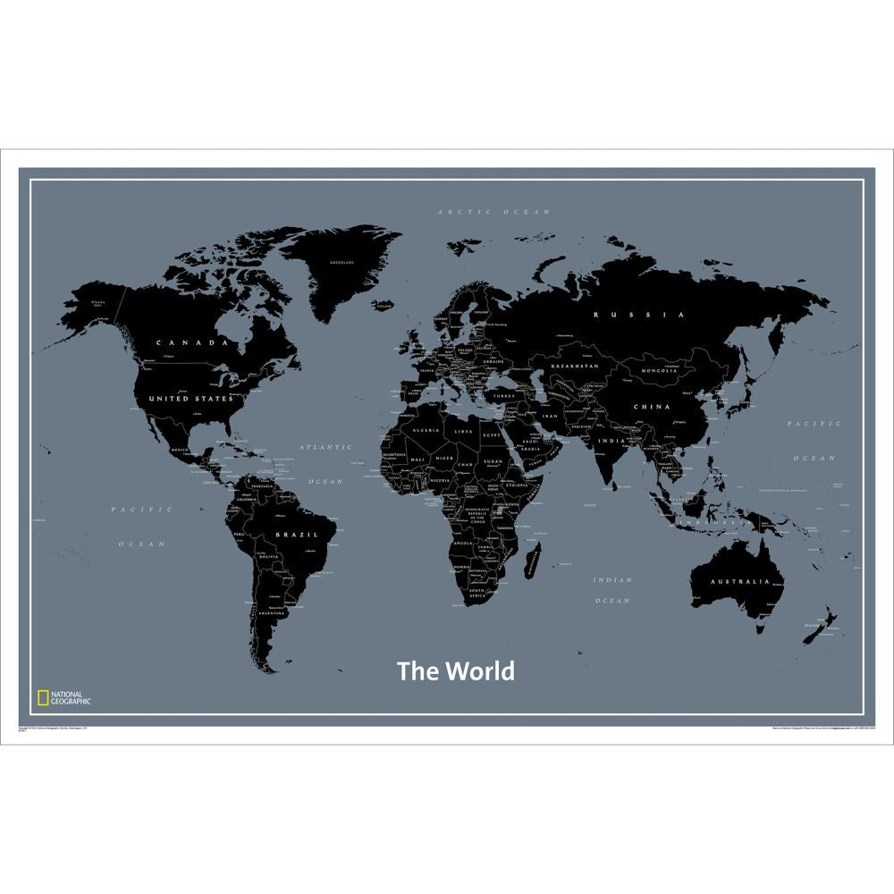 "World Modern Wall Map Laminated 36"" X 24"""