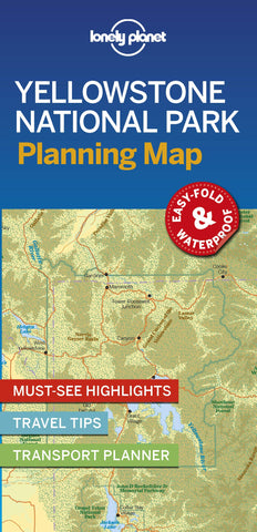 Yellowstone National Park Planning Map 1e