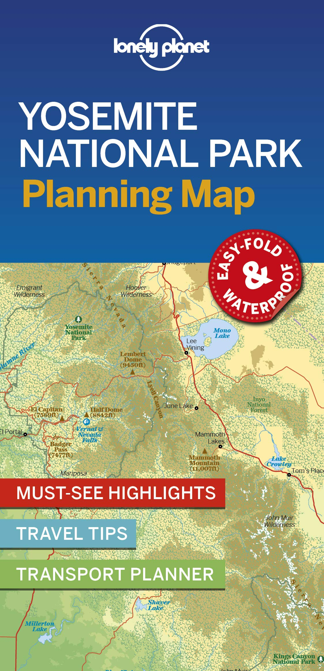 Yosemite National Park Planning Map 1e